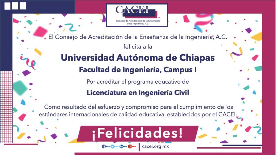Acreditación del Programa Educativo de Licenciatura en Ingeniería Civil